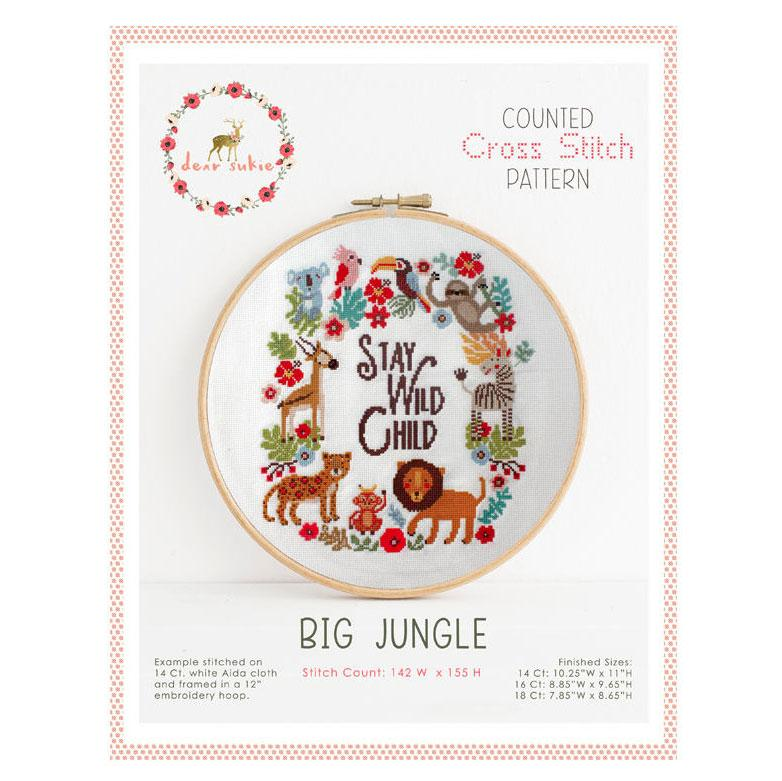 Big Jungle Cross Stitch Pattern