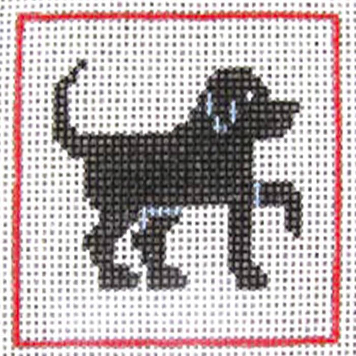 Beginner Needlepoint Kit - Black Dog