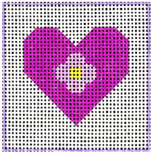 DeElda Beginner Needlepoint Kit - Pink Heart