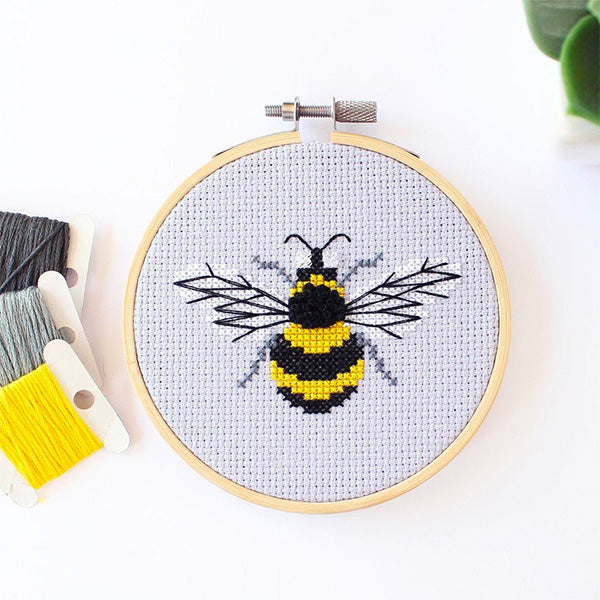 Bumblebee Mini Cross Stitch Kit