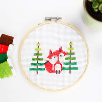 Mini Fox Cross Stitch Kit