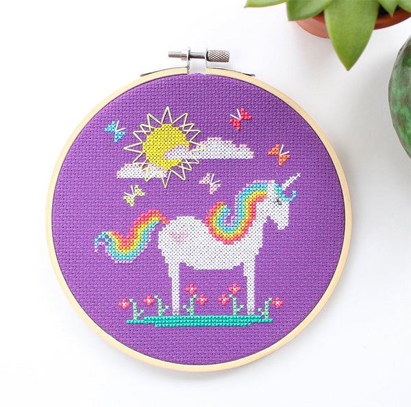 Sunshine Unicorn Cross Stitch Kit