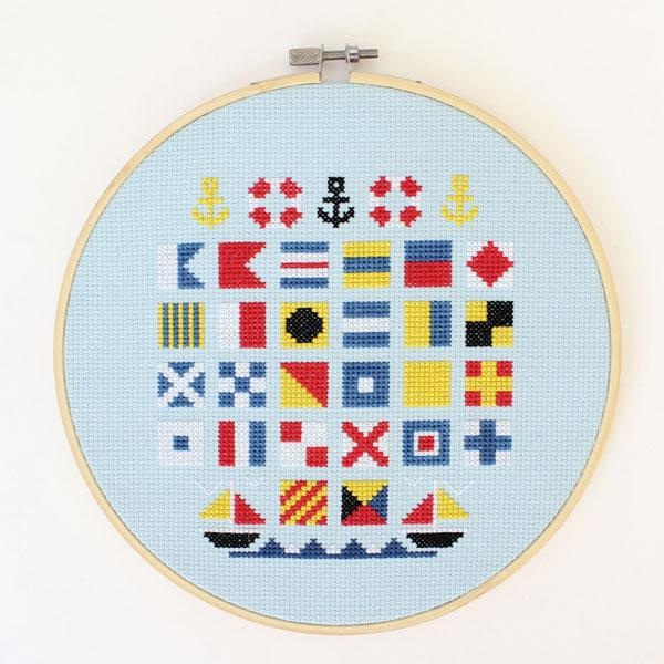 Sailors Alphabet Cross Stitch Kit