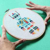 Space Bot Cross Stitch Kit