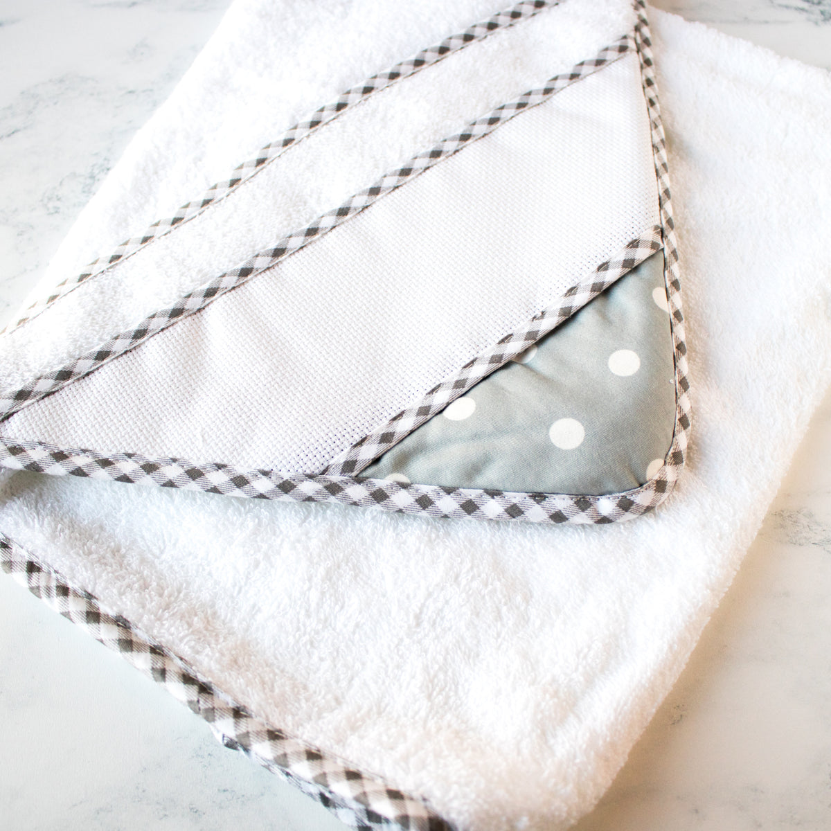 Cross Stitch Hooded Baby Towel