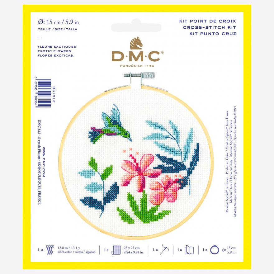 DMC Cross Stitch Kit - Exotic Flowers