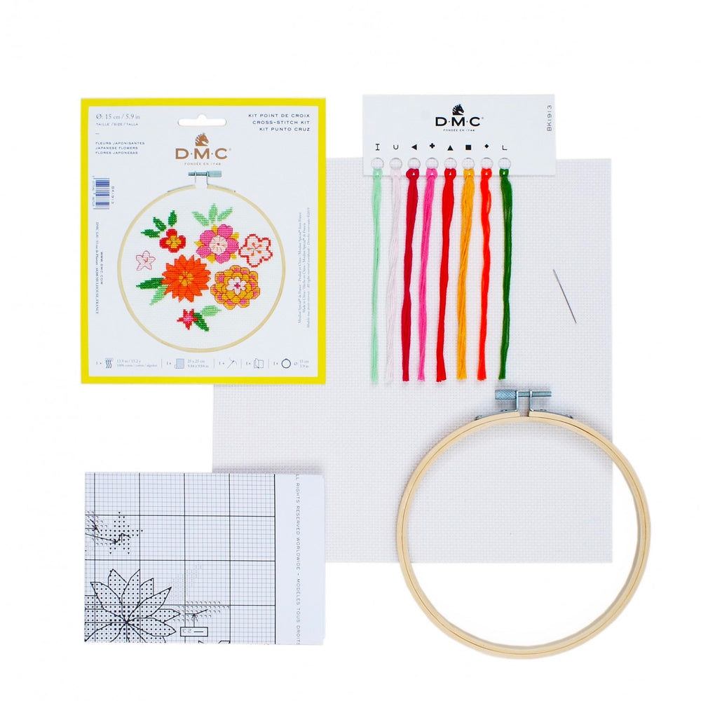 DMC Cross Stitch Kit - Japanese Flowers