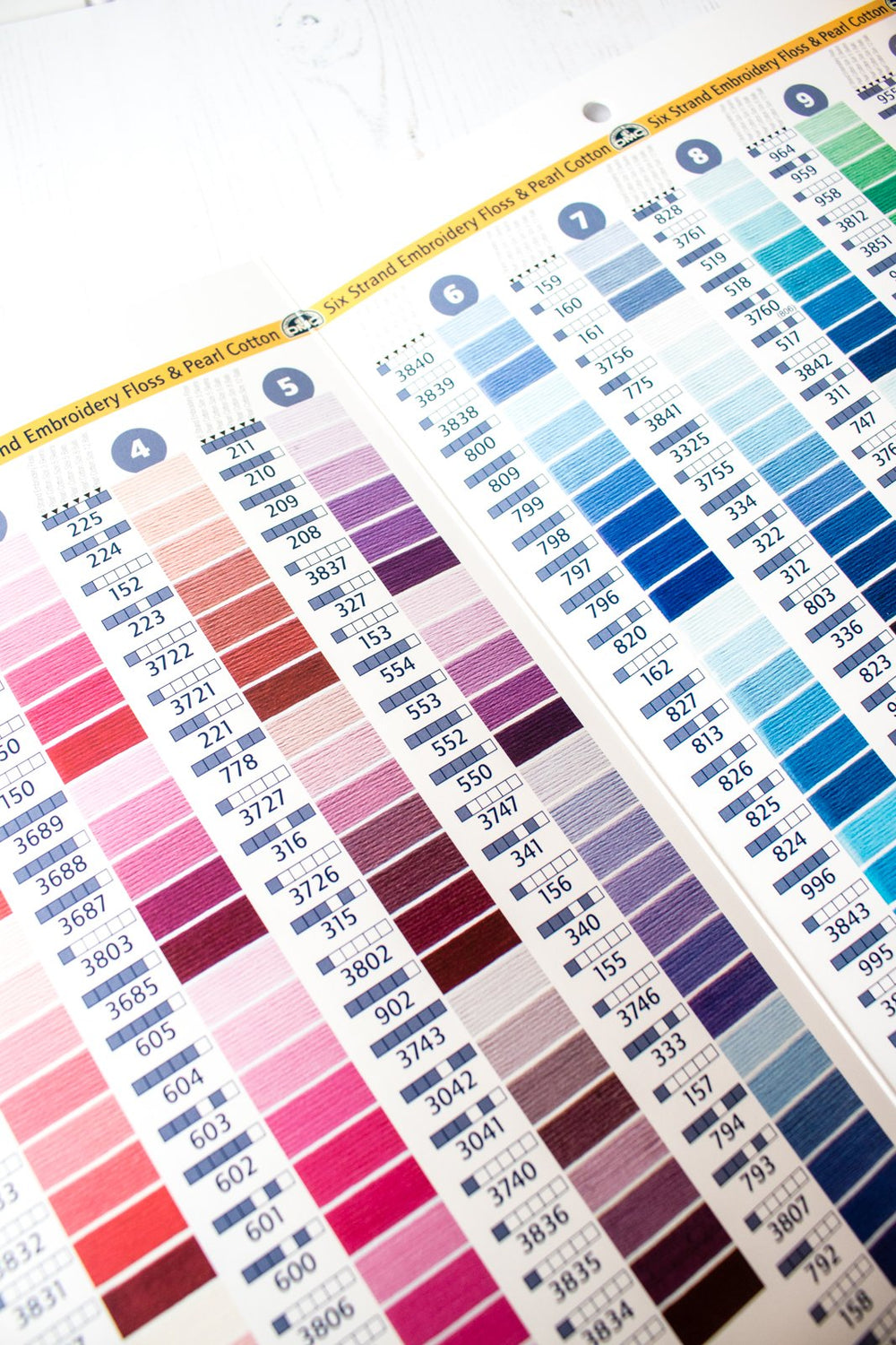 DMC Embroidery and Specialty Thread Color Card - Printed Version