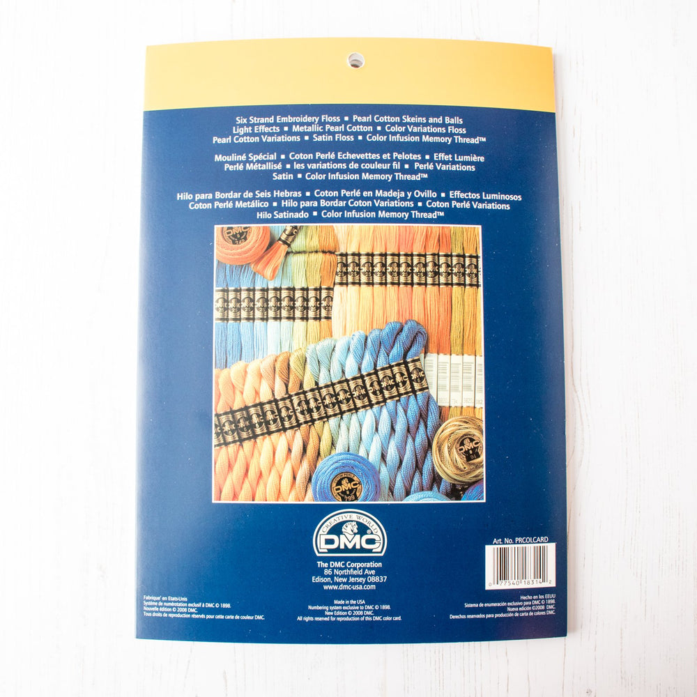 Dmc Embroidery And Specialty Thread Color Card Printed Version
