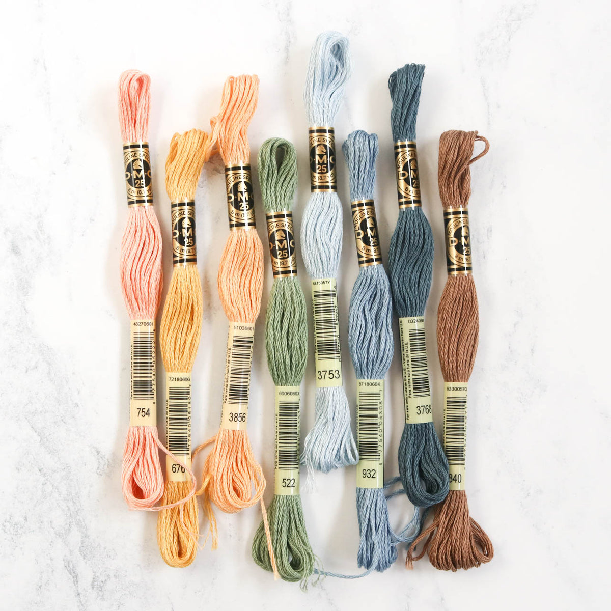 DMC Embroidery Floss Color Palette - Hygge