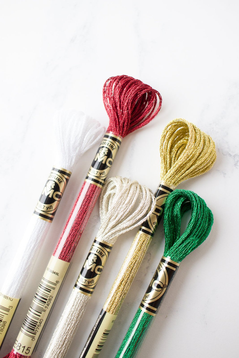 DMC Light Effects Metallic Embroidery Floss - Holiday Sparkle Pack