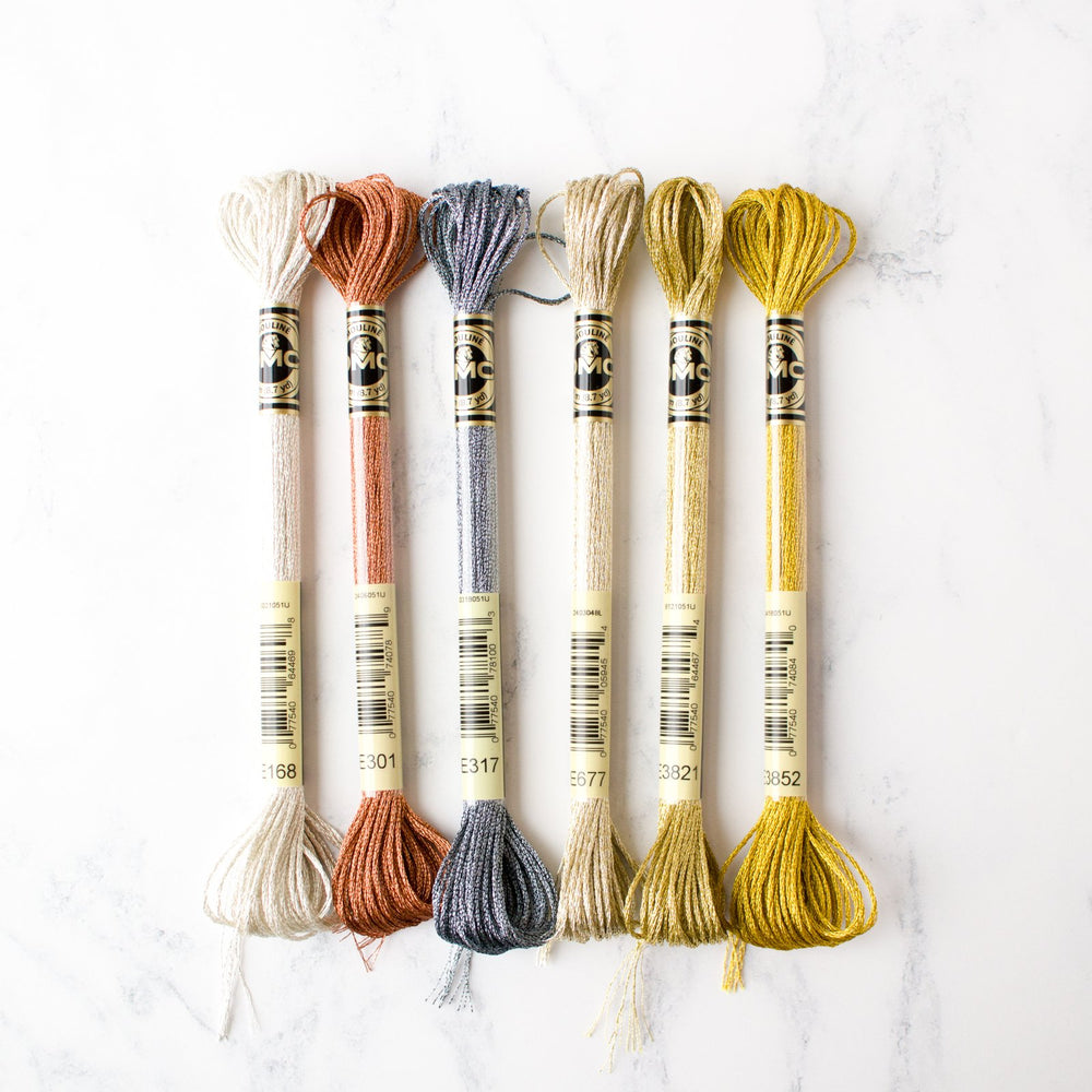 DMC Light Effects Metallic Embroidery Floss - Precious Metals Pack
