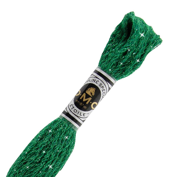 DMC C699 Mouliné Étoile Shimmer Embroidery Floss - Green