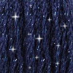 DMC C823 Mouliné Étoile Shimmer Embroidery Floss - Dark Navy Blue