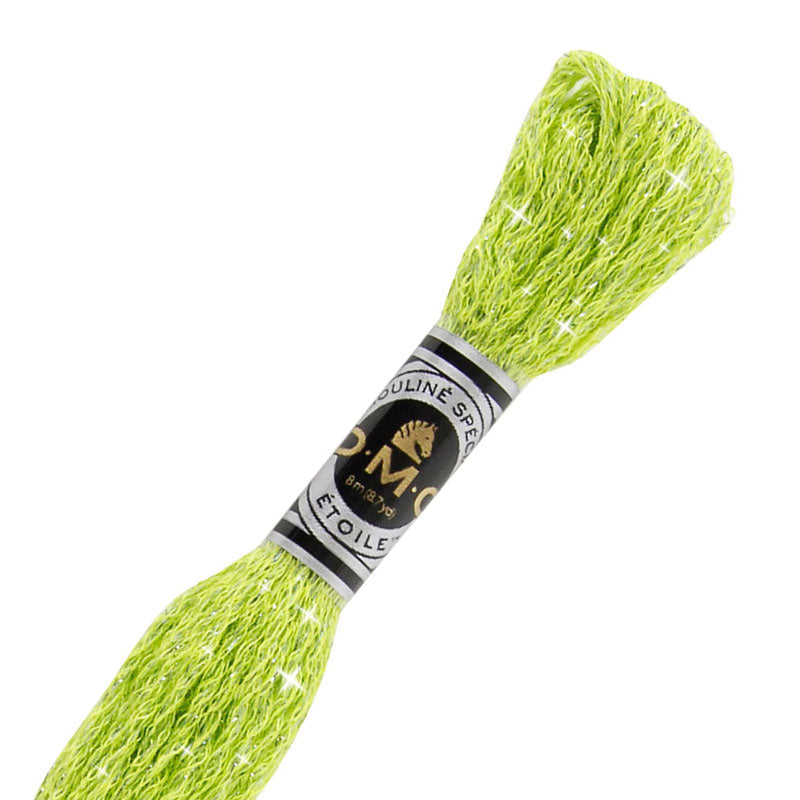 DMC C907 Mouliné Étoile Shimmer Embroidery Floss - Light Parrot Green