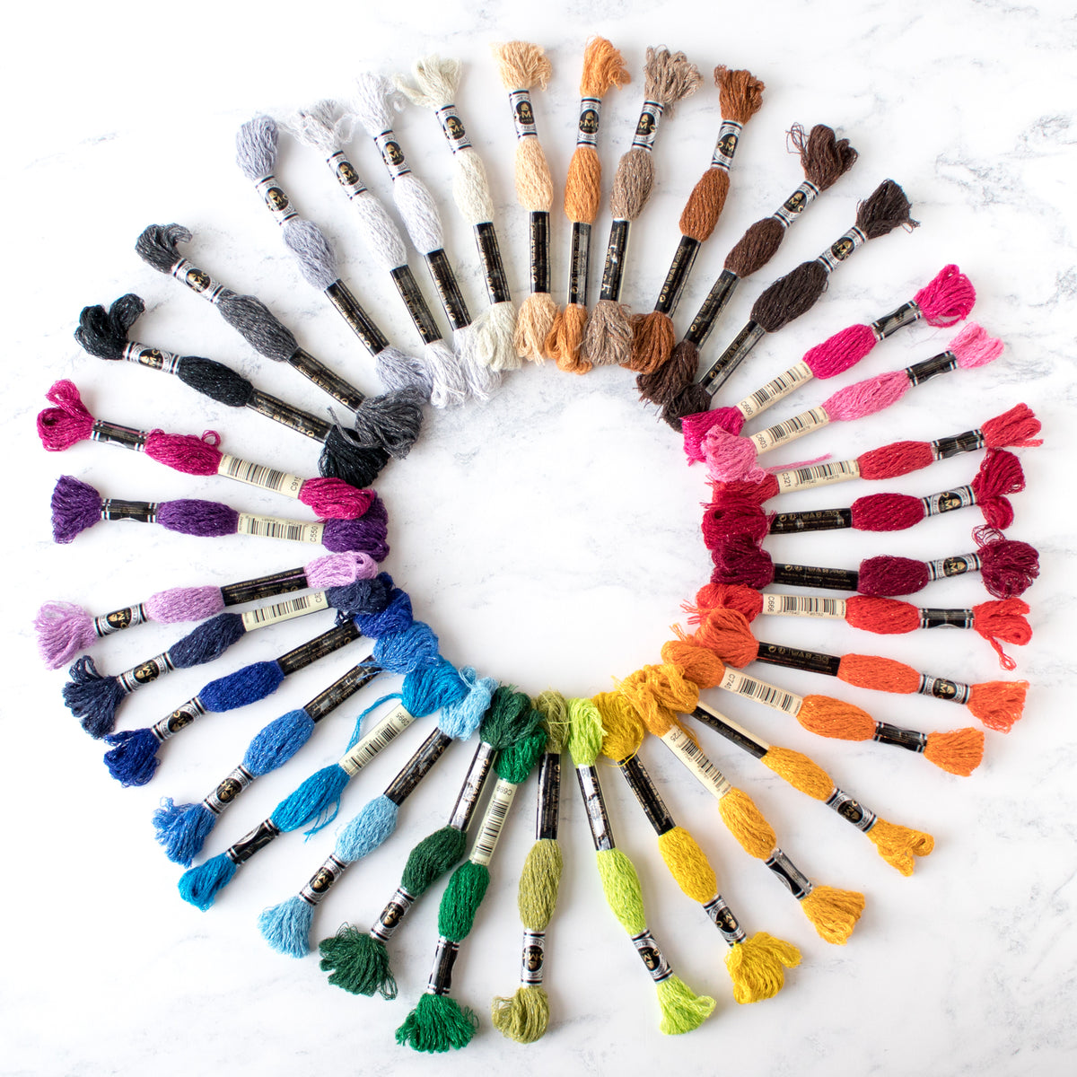 DMC Mouliné Étoile Embroidery Floss Collection - Set of 35 Colors