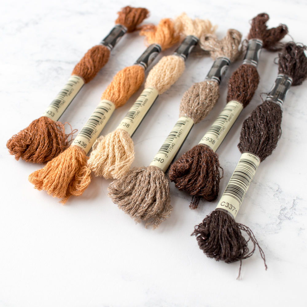 DMC Mouliné Étoile Embroidery Floss Collection - Neutral Browns