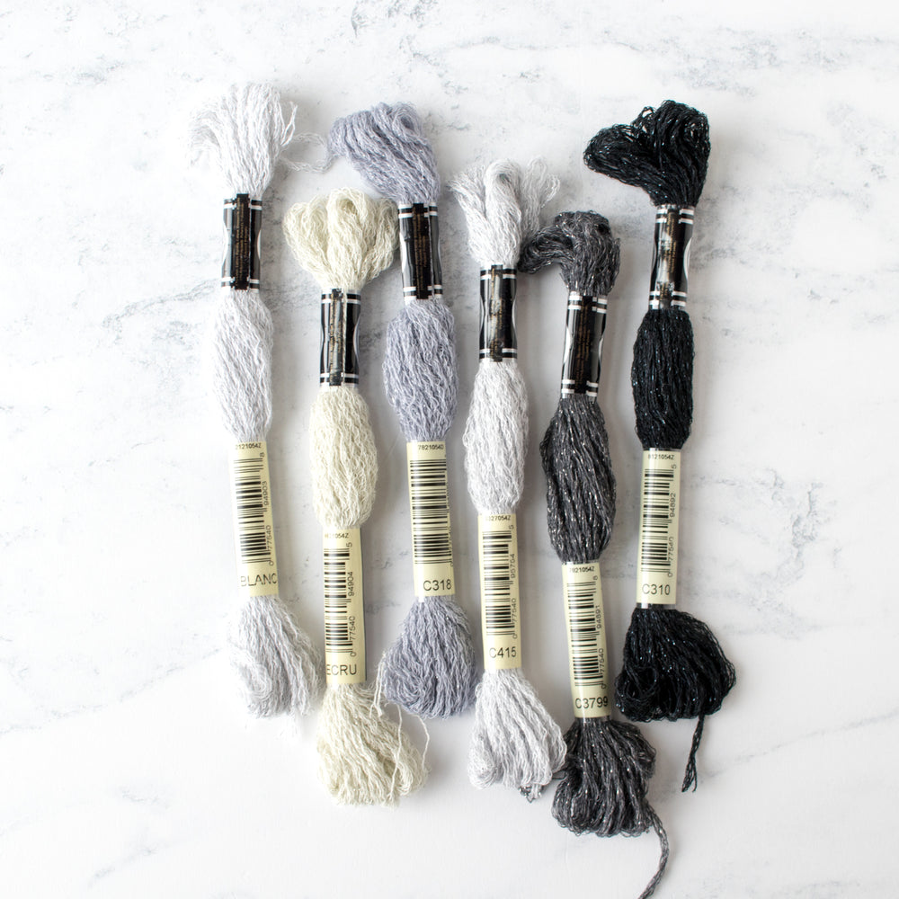 DMC Mouliné Étoile Embroidery Floss Collection - Neutral Grays