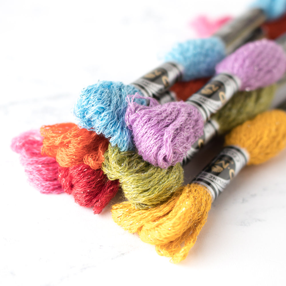 DMC Mouliné Étoile Embroidery Floss Collection - Pastel Rainbow