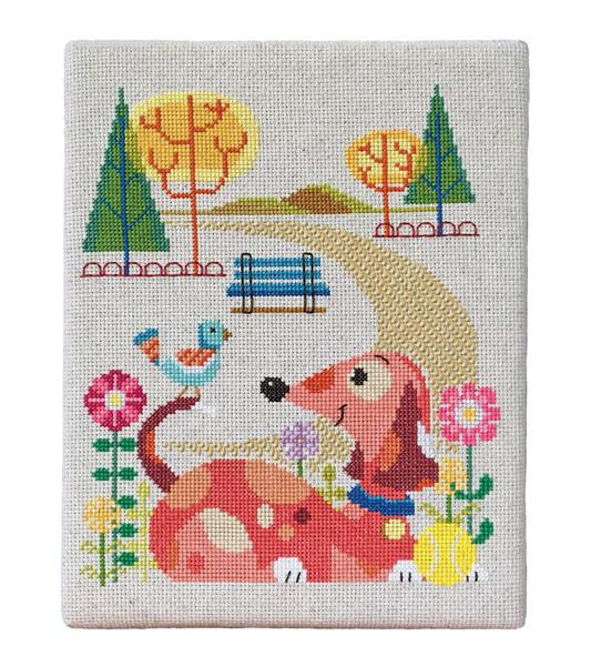 Dog Park Cross Stitch Pattern