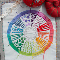 Dropcloth Samplers Hand Embroidery Pattern - Color Wheel Sampler