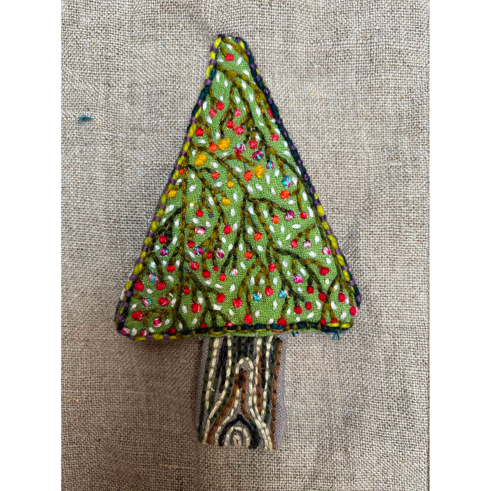 Dropcloth Samplers Hand Embroidery Pattern - Tree Ornament