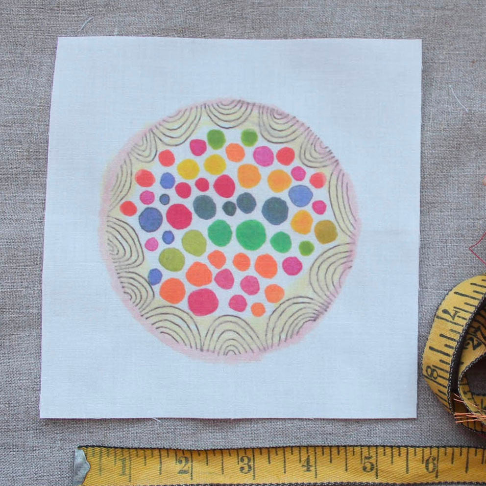 Dropcloth Samplers Hand Embroidery Pattern - Bubblegum Sampler