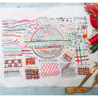 Dropcloth Samplers Hand Embroidery Pattern - Drawing Stitches Sampler