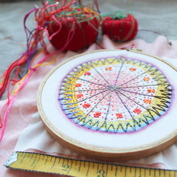 Dropcloth Samplers Hand Embroidery Pattern - Starburst Sampler