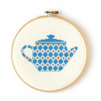 Teapot Cross Stitch Kit