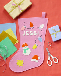 DIY Wool Felt Craft Kit - Christmas Stocking
