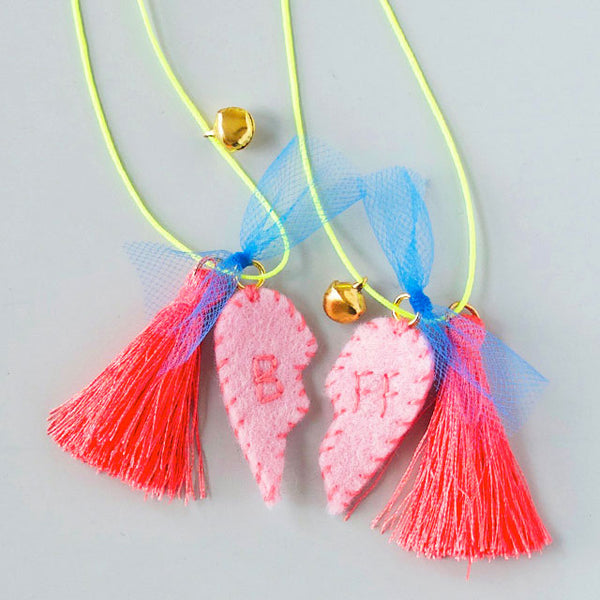 DIY Felt Charm Necklace Kit - Friendship