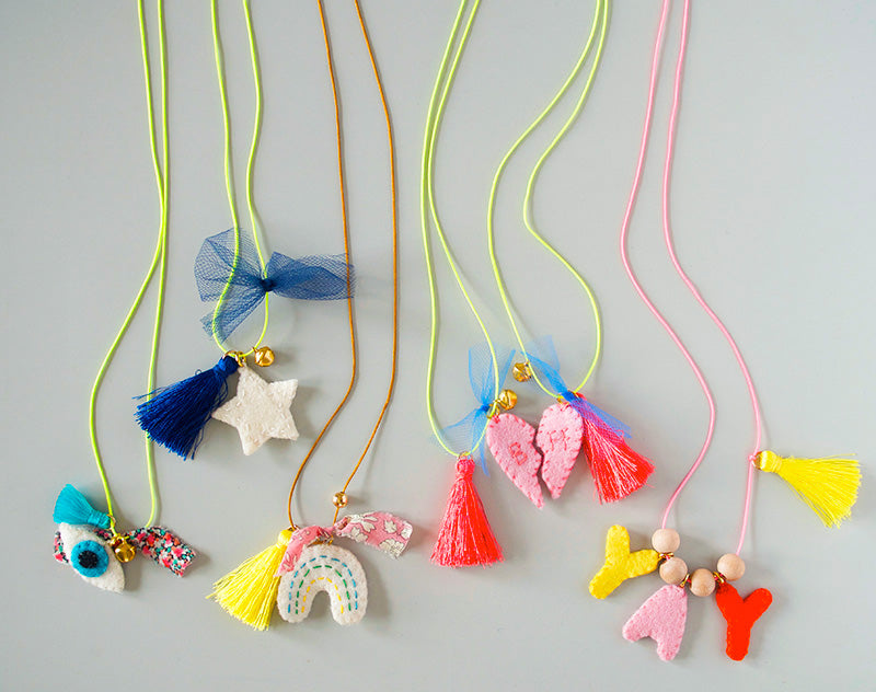 DIY Felt Charm Necklace Kit - Starlight