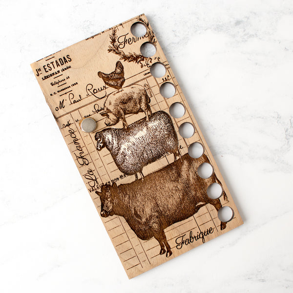 Farm Animals Thread Organizer and Needle Minder