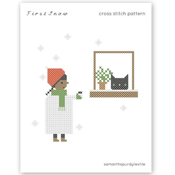 First Snow Cross Stitch Pattern