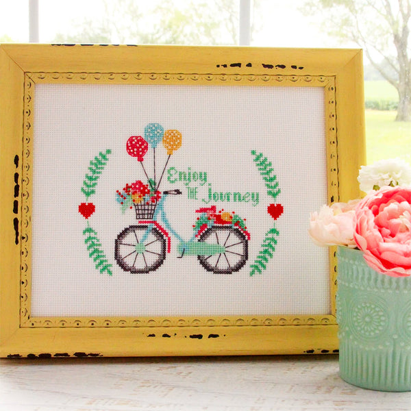 Enjoy the Journey Cross Stitch Pattern