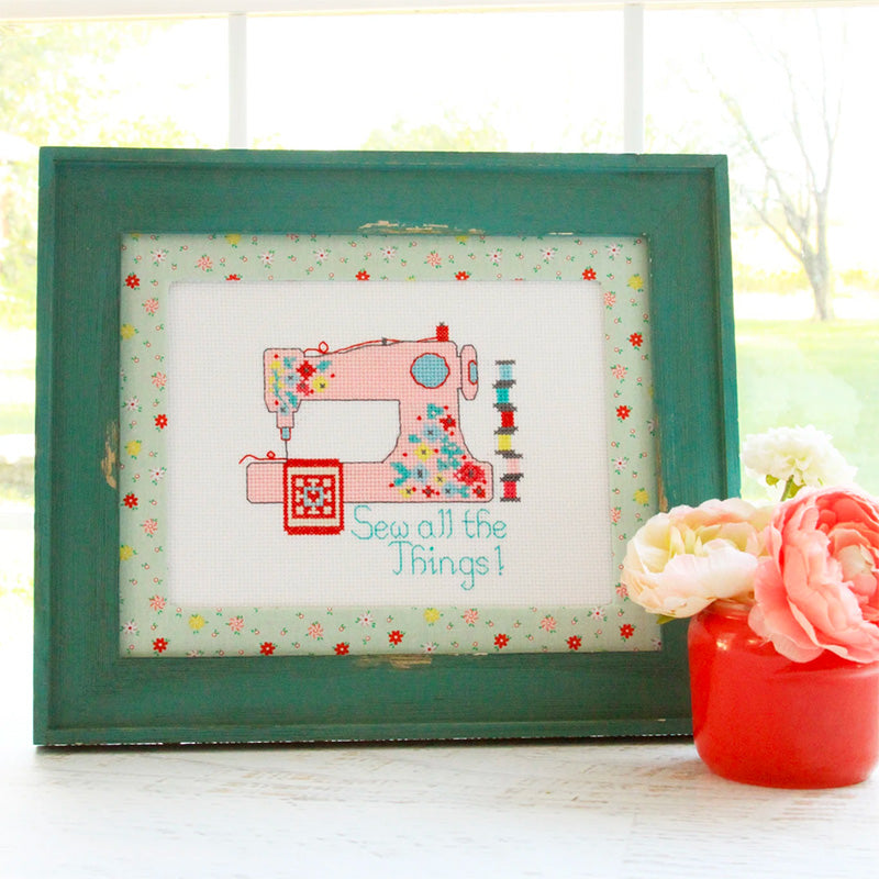 Sew All the Things Cross Stitch Pattern by Flamingo Toes