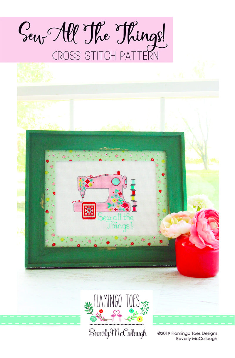 Sew All the Things Cross Stitch Pattern