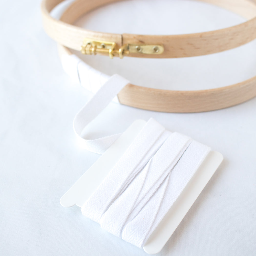 Access Commodities Fine French Cotton Twill Tape White