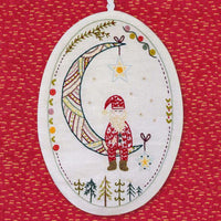 French Hand Embroidery Kit - Santa Claus Ornament No. 6