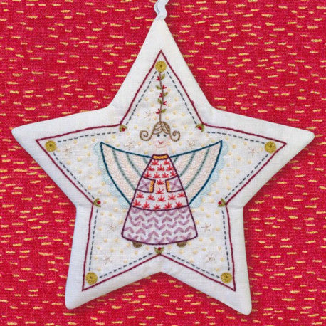 French Hand Embroidery Kit - Angel Star Ornament No. 2