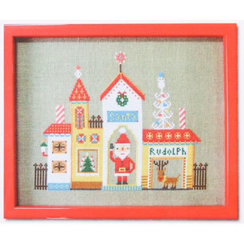 Santa's House Cross Stitch Pattern