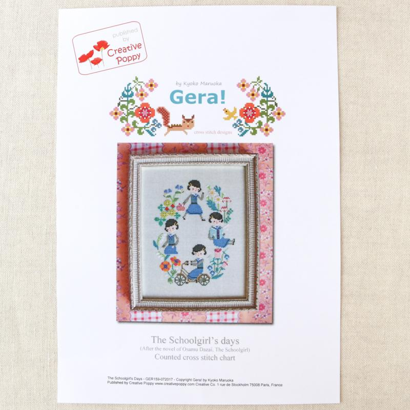 Schoolgirl's Days Cross Stitch Pattern