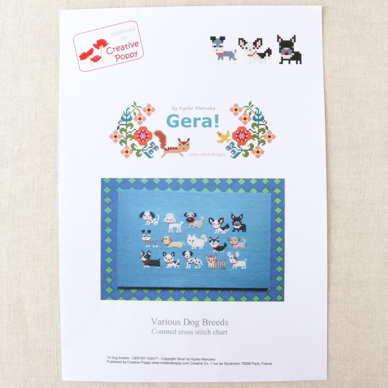 Dog Breeds Cross Stitch Pattern