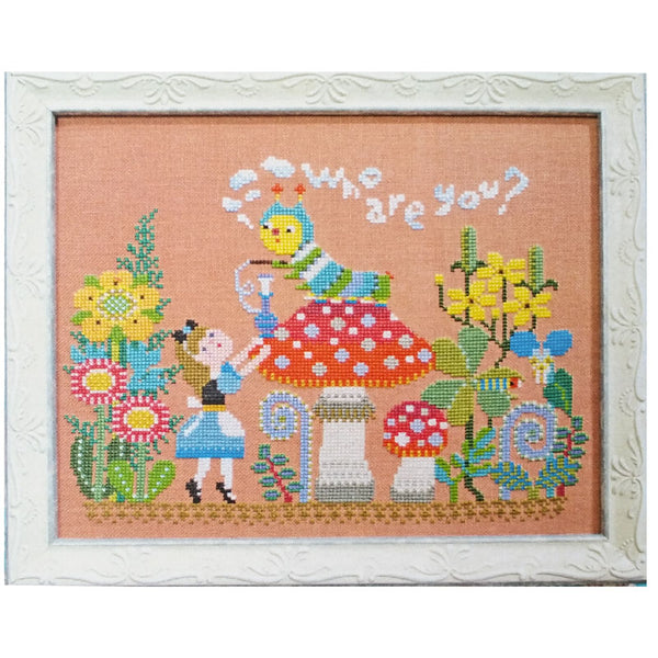 Alice Meets the Caterpillar Cross Stitch Pattern