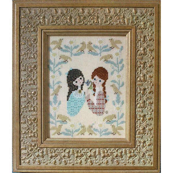 Anne of Green Gables Cross Stitch Pattern - Anne & Diana