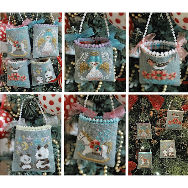 Christmas Mini Bag Ornaments Cross Stitch Pattern
