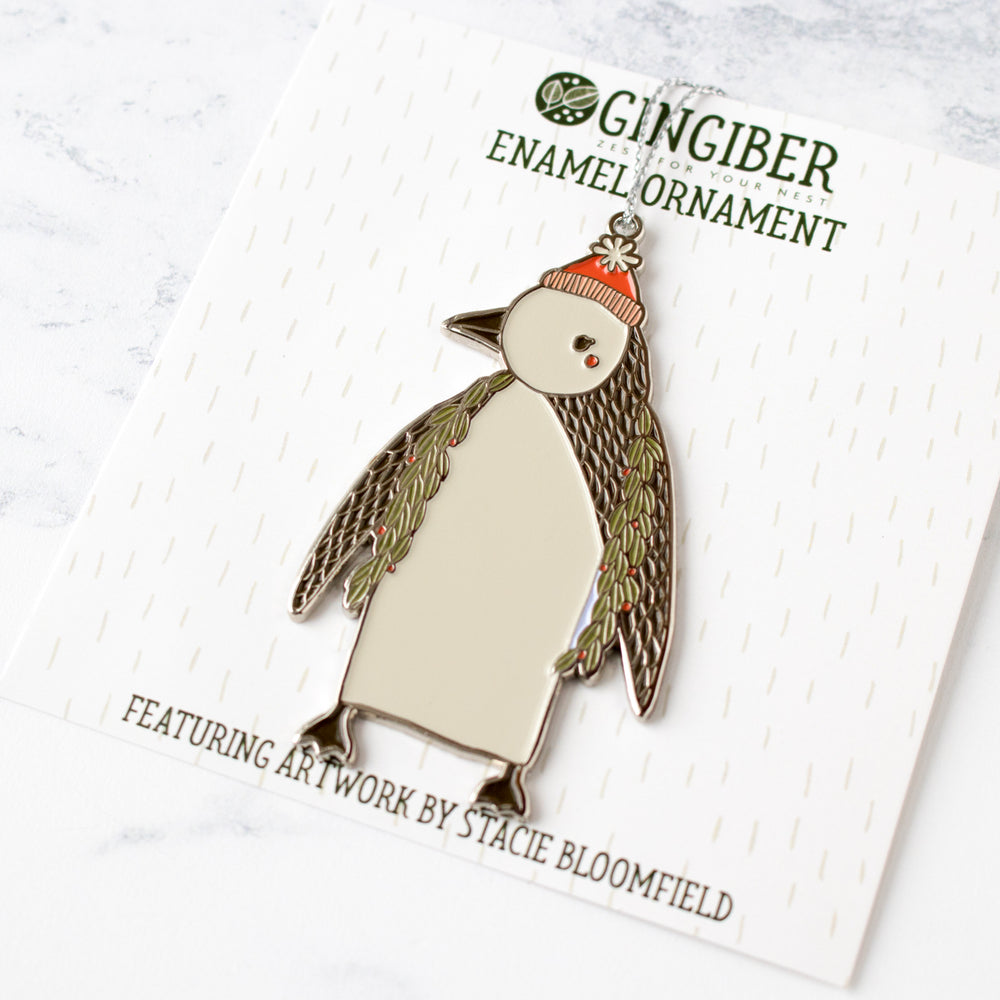 Merrily Penguin Holiday Ornament by Gingiber (50% OFF)