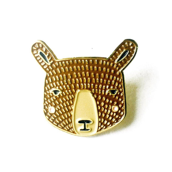 Bear Enamel Pin by Gingiber