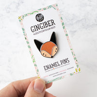 Fox Enamel Pin by Gingiber (20% OFF)
